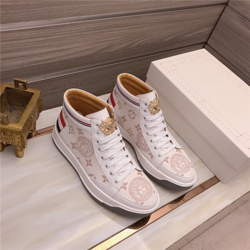 Versace High Tops Shoes For Men #906433
