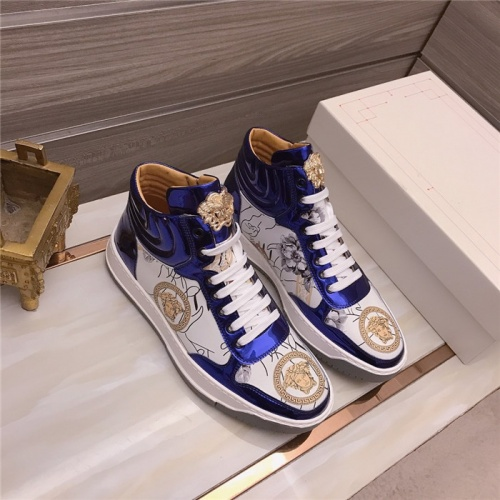 Versace High Tops Shoes For Men #906442