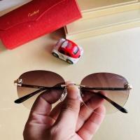 $44.00 USD Cartier AAA Quality Sunglassess #897895