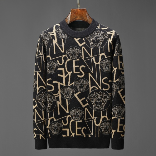 Versace Sweaters Long Sleeved For Men #908982 $52.00 USD, Wholesale Replica Versace Sweaters