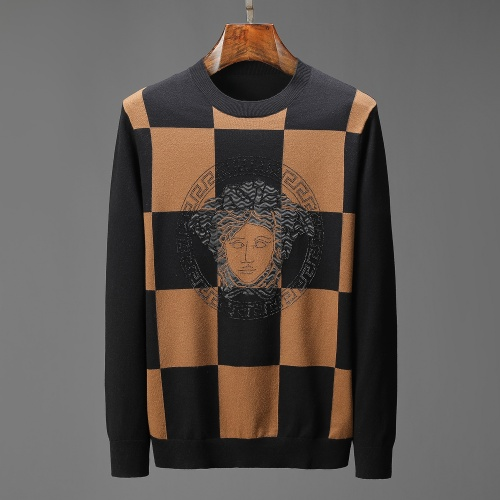 Versace Sweaters Long Sleeved For Men #909002 $52.00 USD, Wholesale Replica Versace Sweaters