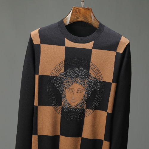 Replica Versace Sweaters Long Sleeved For Men #909002 $52.00 USD for Wholesale