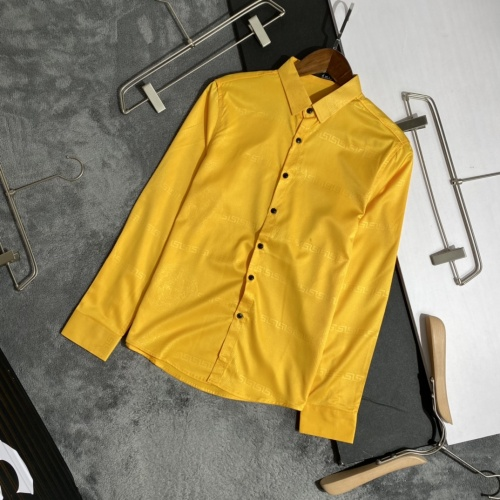 Versace Shirts Long Sleeved For Men #909060