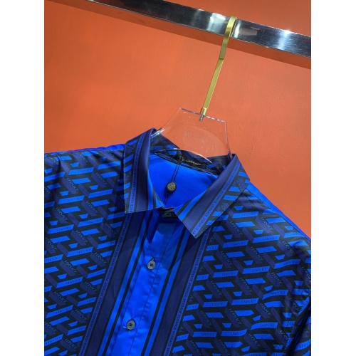 Replica Versace Shirts Long Sleeved For Men #909062 $52.00 USD for Wholesale