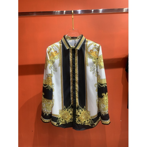Versace Shirts Long Sleeved For Men #909063 $52.00 USD, Wholesale Replica Versace Shirts