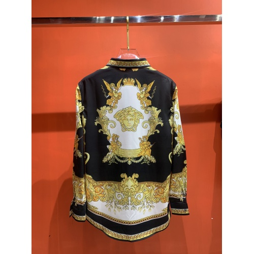 Replica Versace Shirts Long Sleeved For Men #909063 $52.00 USD for Wholesale