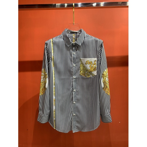 Versace Shirts Long Sleeved For Men #909064