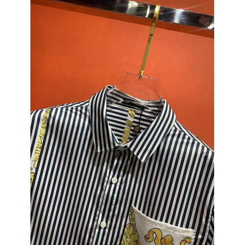Replica Versace Shirts Long Sleeved For Men #909064 $52.00 USD for Wholesale
