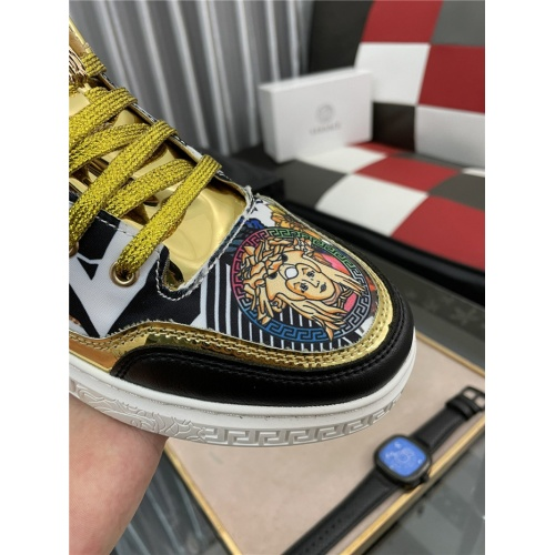 Replica Versace Casual Shoes For Men #909073 $72.00 USD for Wholesale