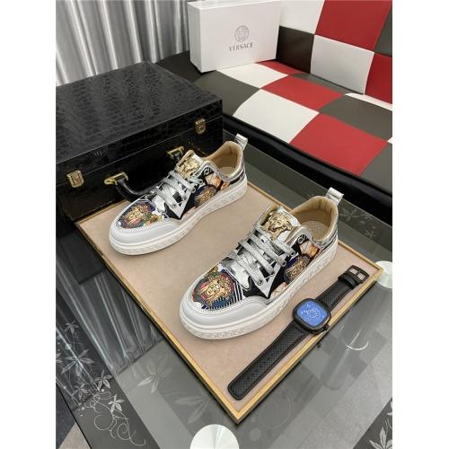 Versace Casual Shoes For Men #909074 $72.00 USD, Wholesale Replica Versace Casual Shoes