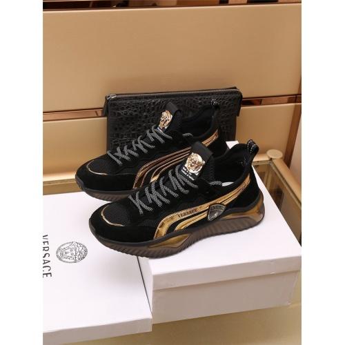 Versace Casual Shoes For Men #909108 $85.00 USD, Wholesale Replica Versace Casual Shoes