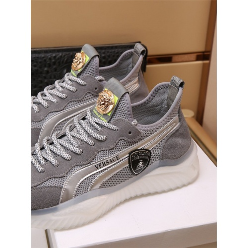 Replica Versace Casual Shoes For Men #909109 $85.00 USD for Wholesale