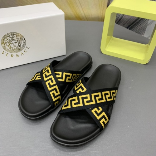 Versace Slippers For Men #909497 $64.00 USD, Wholesale Replica Versace Slippers