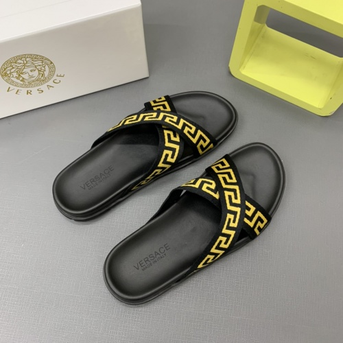 Replica Versace Slippers For Men #909497 $64.00 USD for Wholesale