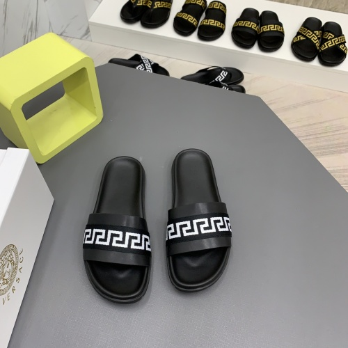 Replica Versace Slippers For Men #909498 $64.00 USD for Wholesale