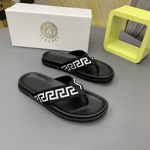 Replica Versace Slippers For Men #909499 $64.00 USD for Wholesale