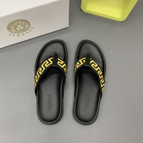 Replica Versace Slippers For Men #909500 $64.00 USD for Wholesale
