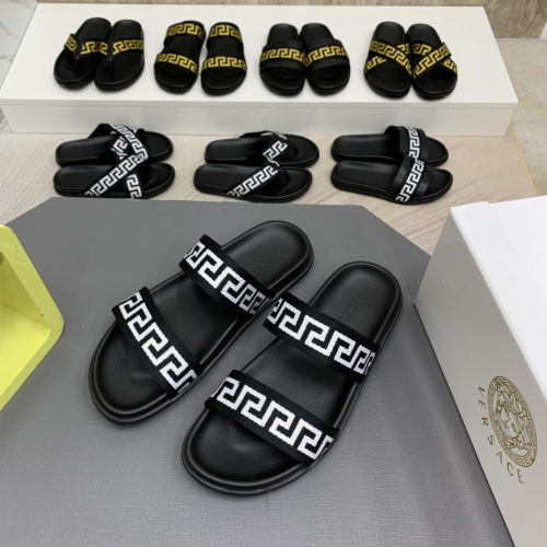 Versace Slippers For Men #909502 $64.00 USD, Wholesale Replica Versace Slippers