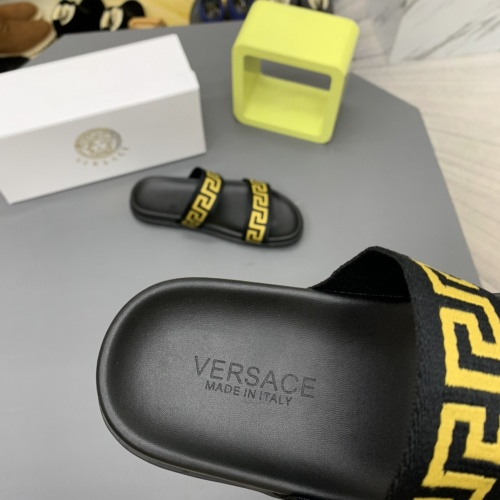 Replica Versace Slippers For Men #909503 $64.00 USD for Wholesale