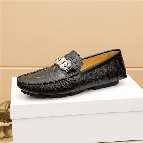 Replica Versace Leather Shoes For Men #909708 $68.00 USD for Wholesale