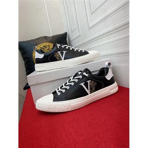 Versace Casual Shoes For Men #910126 $72.00 USD, Wholesale Replica Versace Casual Shoes
