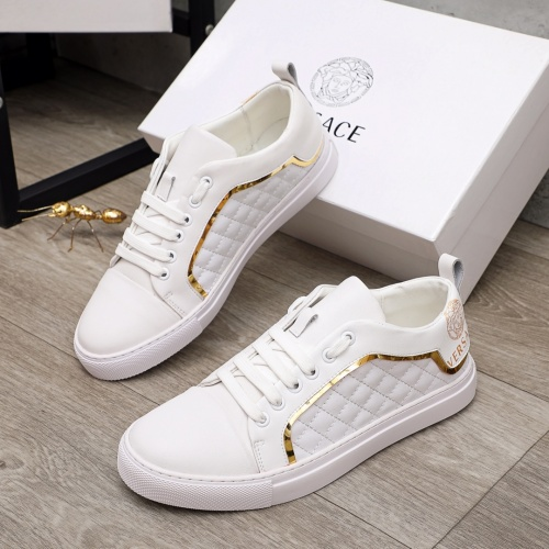 Versace Casual Shoes For Men #910177 $68.00 USD, Wholesale Replica Versace Casual Shoes