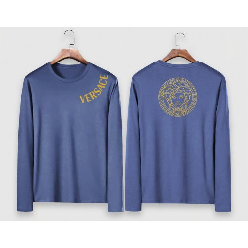 Versace T-Shirts Long Sleeved For Men #910651 $34.00 USD, Wholesale Replica Versace T-Shirts