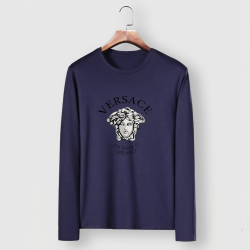 Versace T-Shirts Long Sleeved For Men #910653 $34.00 USD, Wholesale Replica Versace T-Shirts