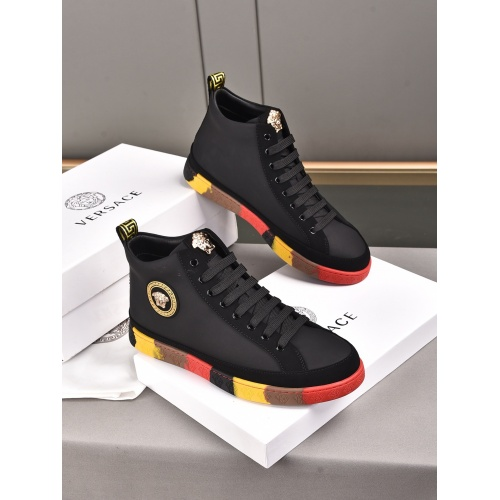 Versace High Tops Shoes For Men #911284