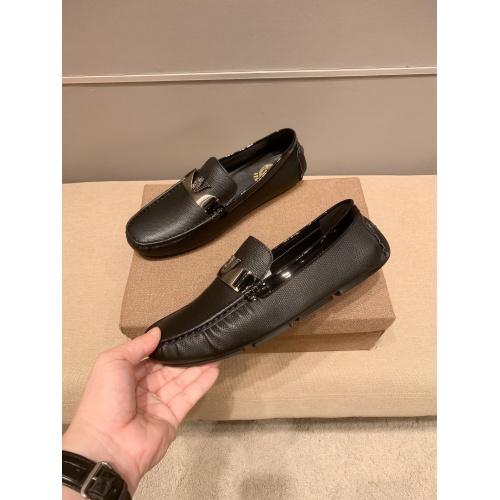 Versace Leather Shoes For Men #914236 $68.00 USD, Wholesale Replica Versace Leather Shoes