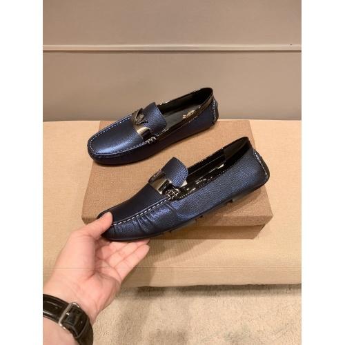 Versace Leather Shoes For Men #914237 $68.00 USD, Wholesale Replica Versace Leather Shoes