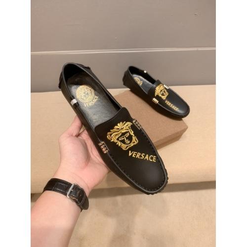 Versace Leather Shoes For Men #914239 $68.00 USD, Wholesale Replica Versace Leather Shoes