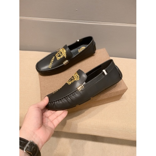 Replica Versace Leather Shoes For Men #914239 $68.00 USD for Wholesale