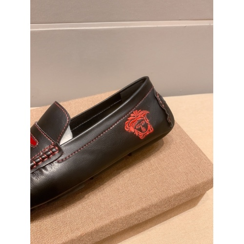 Replica Versace Leather Shoes For Men #914240 $68.00 USD for Wholesale