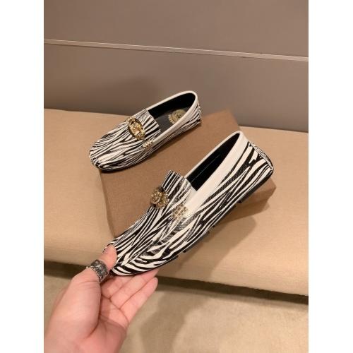 Versace Leather Shoes For Men #914241 $72.00 USD, Wholesale Replica Versace Leather Shoes