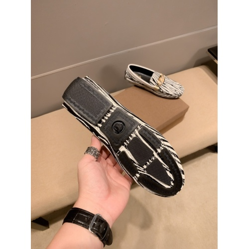 Replica Versace Leather Shoes For Men #914241 $72.00 USD for Wholesale