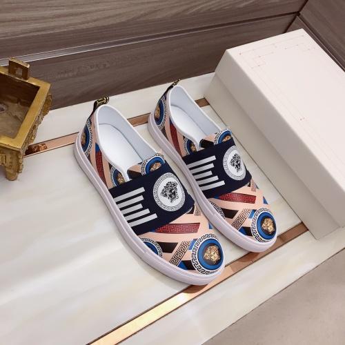 Versace Casual Shoes For Men #914242 $76.00 USD, Wholesale Replica Versace Casual Shoes