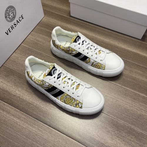 Versace Casual Shoes For Men #914247 $68.00 USD, Wholesale Replica Versace Casual Shoes