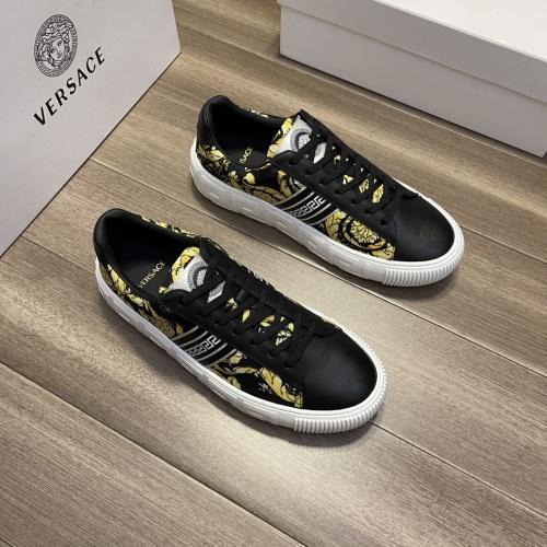Versace Casual Shoes For Men #914249 $68.00 USD, Wholesale Replica Versace Casual Shoes