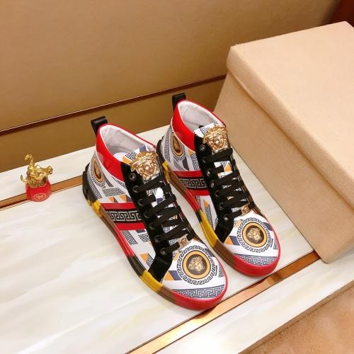 Versace High Tops Shoes For Men #914260 $82.00 USD, Wholesale Replica Versace High Tops Shoes