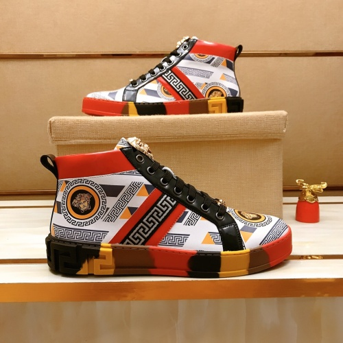 Replica Versace High Tops Shoes For Men #914260 $82.00 USD for Wholesale