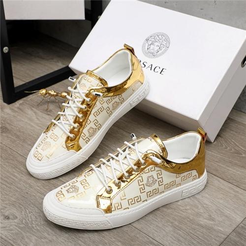 Versace Casual Shoes For Men #914686 $68.00 USD, Wholesale Replica Versace Casual Shoes