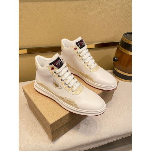 Armani High Tops Shoes For Men #914918