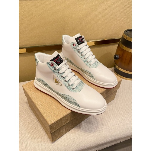 Armani High Tops Shoes For Men #914919