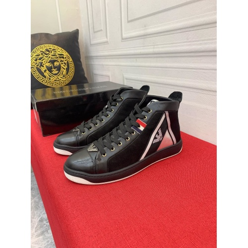 Armani High Tops Shoes For Men #914920