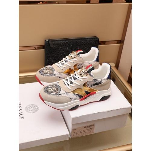 Versace Casual Shoes For Men #915052 $82.00 USD, Wholesale Replica Versace Casual Shoes