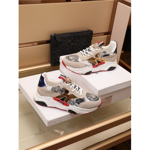 Replica Versace Casual Shoes For Men #915052 $82.00 USD for Wholesale