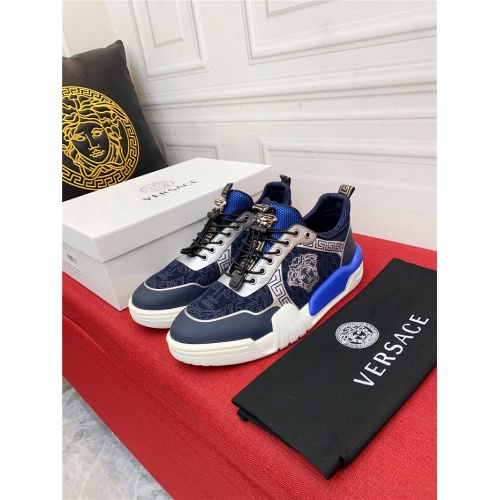Replica Versace Casual Shoes For Men #915238 $80.00 USD for Wholesale