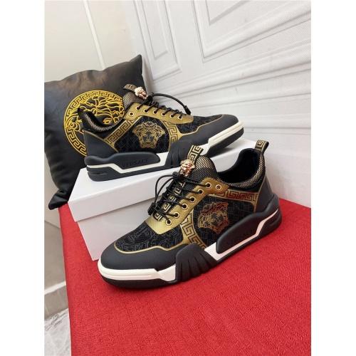 Versace Casual Shoes For Men #915244 $80.00 USD, Wholesale Replica Versace Casual Shoes
