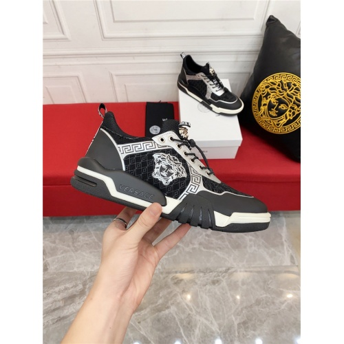Replica Versace Casual Shoes For Men #915245 $80.00 USD for Wholesale